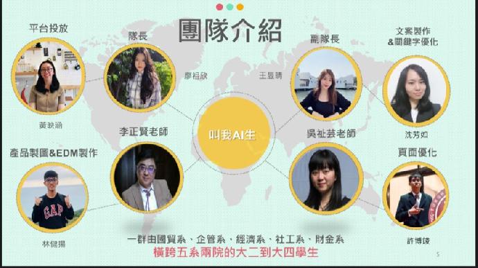 恭喜本校企業導生社組隊「叫我AI生隊」榮獲台灣經貿網跨境電商實戰營 亞軍